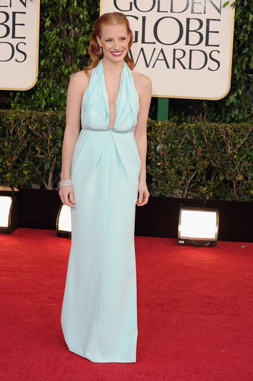 Jessica-Chastain-Blue-Gown-Golden-Globes-2013