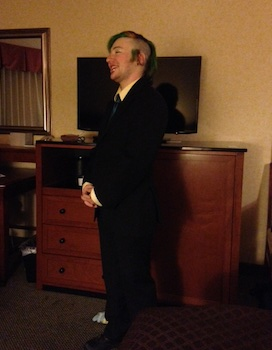 Dapper Cory, before failing to sneak into Prom.
