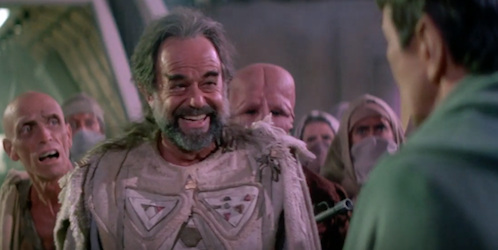 Lawrence Luckinbill as Sybok in Star Trek V The Final Frontier directed by William Shatner which was a Star Trek movie with Sybok and the original crew from the TOS series of Star Trek Hi Craigula.